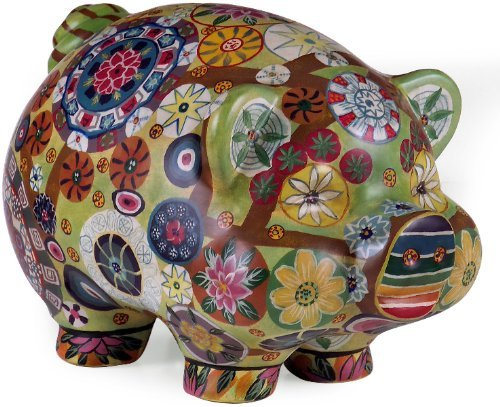 IMAX 18922 Folkart Piggy Bank