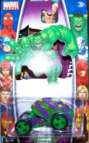 Marvel Heroes 2006 1:64 Scale Green & Purple The Incredible Hulk Die Cast Car H25 MGA Entertainment - 1