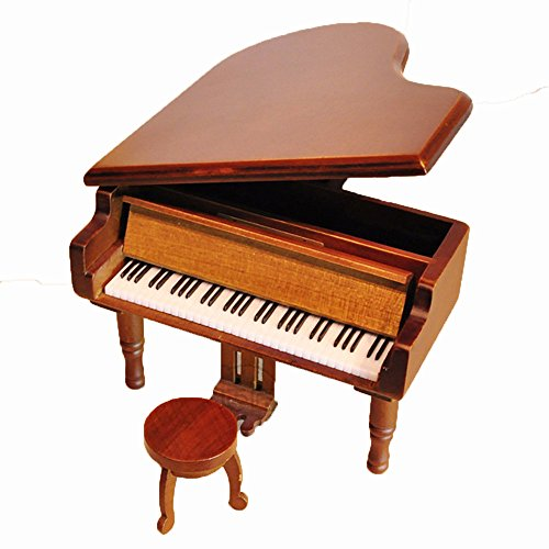 Laxury Antique Vintage Wind up Wooden Music Box Musical Piano Play Always with Me of the Spirited Away, Different Color Available (Wood) 1