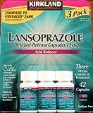 Kirkland Signature Lansoprazole 3 Pack Delayed-Release42 Capsules 15mg