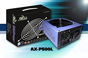 AXLE ATX PC Netzteil 500 Watt TWISTER, 1xPCIe, 3xSATA, 1x120mm Lüfter temperaturgeregelt, sehr leise