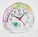 Wm.Widdop Alarm Clock - Flower Design L/S/C