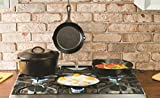 Lodge L9OG3 Pre-Seasoned Cast-Iron Round Griddle, 10.5-inch