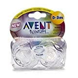 Avent Orthodontic Translucent Silicone Pacifier, Clear, 0-3 months 2 ea ~ Philips