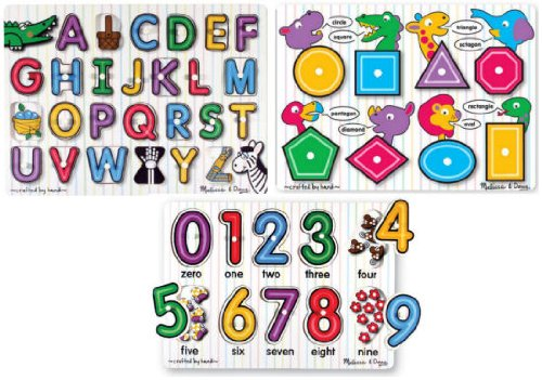 Cheap Fun Melissa & Doug See Inside Alphabet and Numbers plus Shapes Peg Puzzle Bundle (B001IVVJQ4)