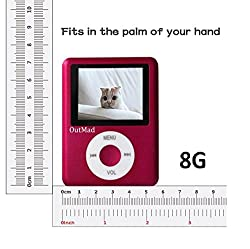 OutMad Pink Economic Mp3 Mp4 Player - 8 GB Micro Sd Card Included - 1.81 LCD Slim Portable Mp3/mp4+ Mini Usb2.0 Cables