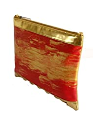 Demure DM 04 Hand Painted Sling Bag (Red Gold)