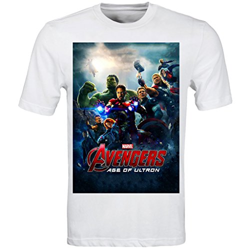 Avengers Marvel - Age Of Ultron T Shirt (s-3xl) Iron Man Thor Captain America Hulk Steve Rogers Picture
