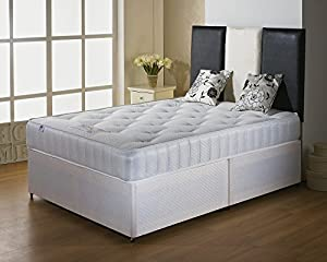 Classic divan with spring foam mattress and 2 draws no for Double divan bed no headboard