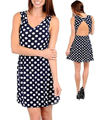 Polka dot a-line dress from amazon.com