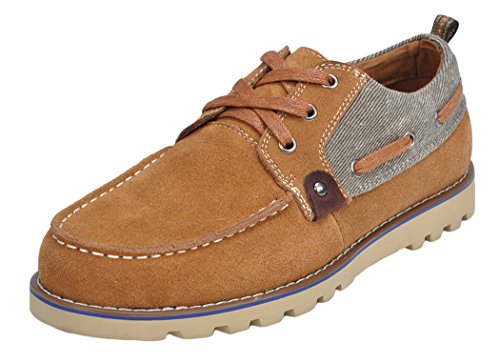 Serene Christmas Mens Fashion Suede striated Casual Oxfords(10 D(M)US, Brwon)