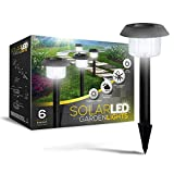 SolarGlow Solar Powered LED Garden Lights, Pack of 6