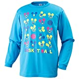 MIZUNO(ミズノ)ディズニーTシャツ バスケット長袖プラクティスシャツ レディース ジュニア ブルー W2JA5551 23BLU M