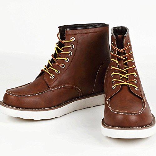 9cmアップ シークレットシューズ シークレットブーツ メンズ 履くだけで背が高くなる靴 メンズブーツ ワークブーツ メンズシューズ kk5-500 ブラウン 27.0cm