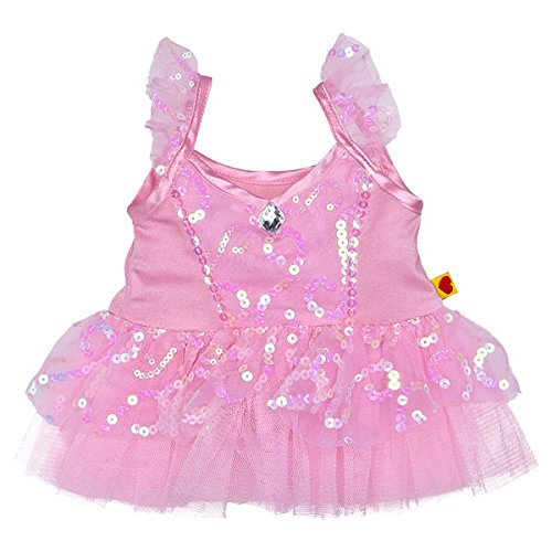 Build a Bear Workshop Sparkly Teddy Bear Ballerina Dress build a bear workshop promise pets pink dog leash