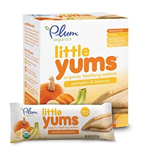 Plum Organics Little Yums Teething Wafers, Pumpkin Banana, 3 Ounce