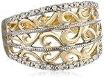 10k Yellow Gold Filigree Diamond Ring...