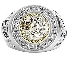 buy Andi Rose Fashion Men 18K Gold Gp Cool Lion Eagle Star Ring Size 8 / 9 / 10 / 11.5 / 12.5