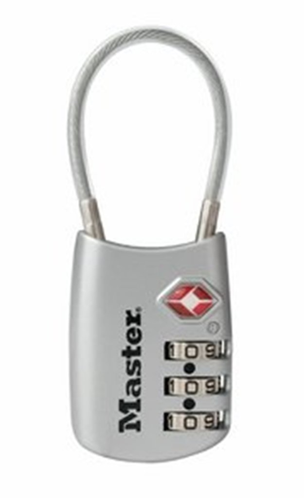 Master Lock 4688DSLV TSA Accepted Cable Luggage Lock, Silver