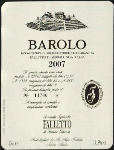 2007 Bruno Giacosa Falletto Barolo 750 Ml