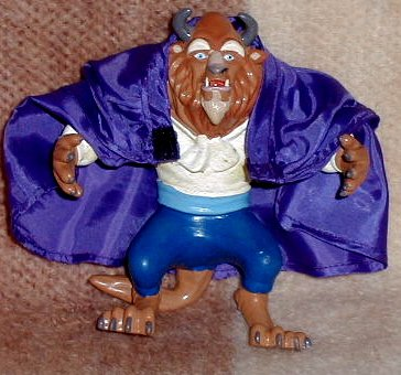 "Disney Beast comes with silk looking cape 5"" tall X 5"" wide - 1"