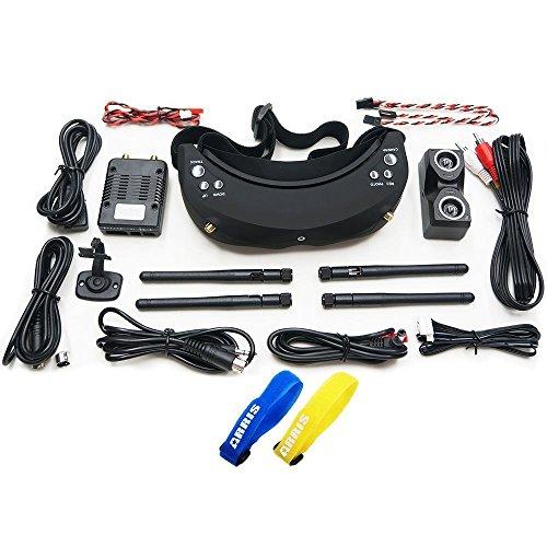 Skyzone SKY-02S FPV AIO Video Goggles W/ 5.8G 40CH Dual Diversity Receiver Head Tracker V2 SKY02S