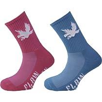 Flow Society Flow Glow Lacrosse Socks - 2 Pair Pack - Ruby Pink/Turquoise-M