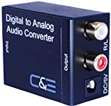 C&E CNE77338 Digital Optical Coax to Analog R/L Audio Converter