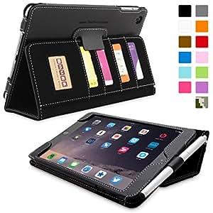 Snugg® iPad Mini & iPad Mini 2 Case - Executive Smart Cover With Card Slots & Lifetime Guarantee (Black Leather) for Apple iPad Mini & iPad Mini 2