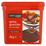 Chef's Larder Gravy Granules for Meat Dishes 2kg (Pack of 4)
