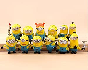 12pcs/set Despicable me 2 High Quality big minion Movie gifts for kids