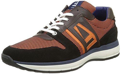 AzzaroOnaliss - Sneaker Uomo , Nero (Noir (Noir Orange Marron Pn)), 45