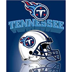"Tennessee Titans Light Weight Fleece NFL Blanket (Grid Iron) (50""x60"")"