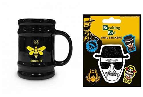 Set: Breaking Bad, Golden Moth, Barrel Mug Tazza Da Caffè Mug (11x9 cm) e 1 Breaking Bad, Sticker Adesivo (12x10 cm)