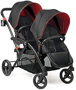 Contours Options Elite Tandem Stroller, Red Velvet