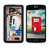 Apple LG Optimus L70 Dual Aluminum Case Paintbrushes watercolor gouache and paper are on wooden shelf IMAGE 19507948 by MSD Customized Premium Deluxe Pu Leather generation Accessories HD Wifi Luxury Protector