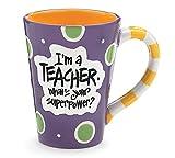 I'm A Teacher, What's Your Super Power? Teacher 12 oz Coffee Mug Great Gift
