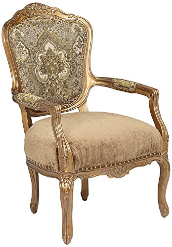 Miabelle Antique Gold Splendid Gem Armchair