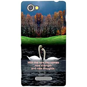Sony Xperia M Back Cover - Love Bird Designer Cases