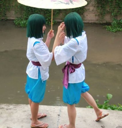 HALLE SHOP---Sen and Chihiro's spirited away-Haku wind cosplay costume costumes Halloween, Christmas, events, festive fancy dress (costume, male SS only)