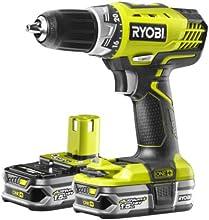 Comprar Ryobi RCD18022L - Taladro (Ión de litio, 18 V, 45 min, Negro, Amarillo)