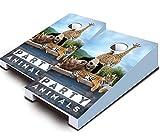 PARTY ANIMALS Zoo Tiger Giraffe Panda TABLETOP Desktop Cornhole Boards Game Set Bean Bag Tailgate Toss Mini Miniature
