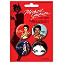 Michael Jackson - Badge Set Red (en 3,8 cm)