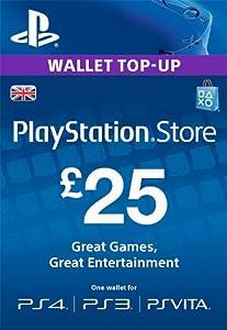 PSN CARD 25 GBP WALLET TOP UP [PS4, PS3, PS Vita PSN Code - UK account]