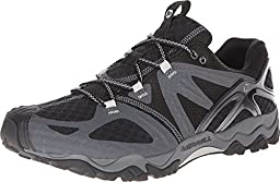 Merrell Men\'s Grassbow Air Trail Running Shoe,Black/Silver,10 M US
