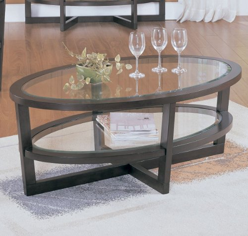 Homelegance Vista Cocktail Table in Cherry