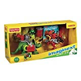 Fisher Price - Imaginext - Exclusive Dino Gift Set with DVD! - Triceratops & Velociraptor - Y1563