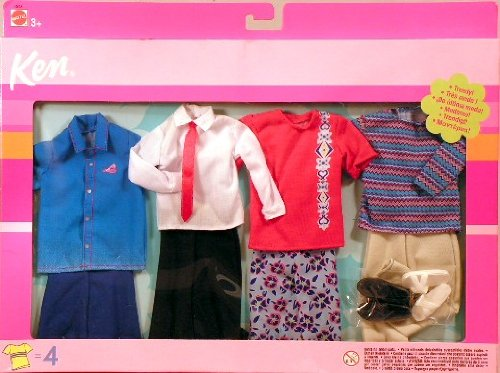 51shjrfE iL Cheap  Ken Fashion Doll Clothes *STAINED SHIRT SPECIAL* Set of 4 Outfits
