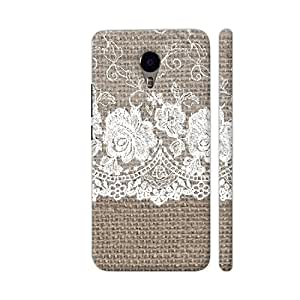 Colorpur Vintage Shabby Chic White Bride Lace On Simple Textile Designer Mobile Phone Case Back Cover For YU Yunicorn | Artist: UtART