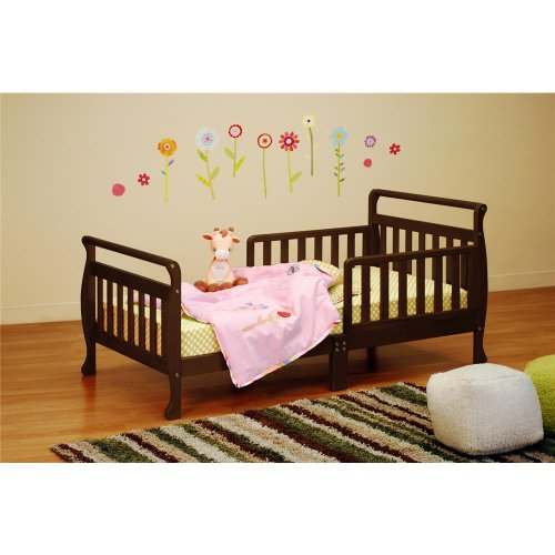 Baby Mile Sleigh Toddler Bed, Espresso front-220357